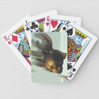 Negro-amarre los naipes del Goldfish Barajas De Cartas