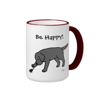 Negro amistoso Labrador del dibujo animado del lab Taza