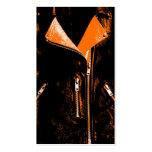 Negro anaranjado de la tarjeta de visita de la cha