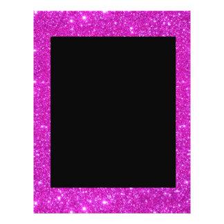 Negro atractivo femenino con el marco rosado brill flyer personalizado
