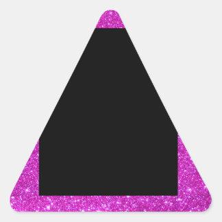 Negro atractivo femenino con el marco rosado pegatina triangular