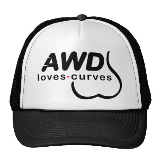 Negro AWD de las curvas de los amores Gorros Bordados