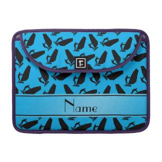 Negro azul conocido personalizado de cielo funda macbook pro