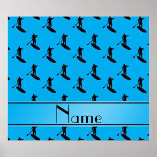 Negro azul conocido personalizado de cielo póster