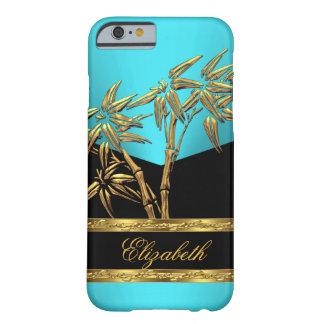 Negro AZUL de bambú asiático con clase elegante 2 Funda De iPhone 6 Barely There