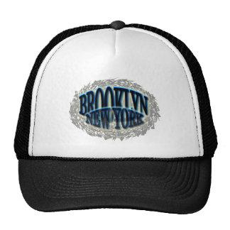 Negro azul de Brooklyn NY - Estallido-hacia fuera Gorras