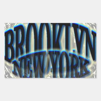 Negro azul de Brooklyn NY - Estallido-hacia fuera Pegatina Rectangular