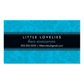 Negro azul de la aguamarina de moda del flourish plantilla de tarjeta de visita