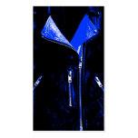 Negro azul de la tarjeta de visita de la chaqueta