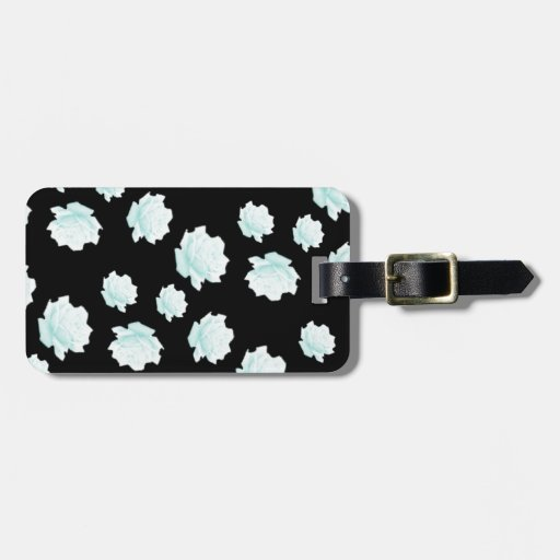 Negro azul de los rosas del trullo bonito del esta etiqueta para maleta
