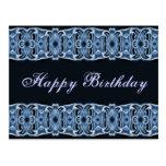 Negro azul del feliz cumpleaños postal