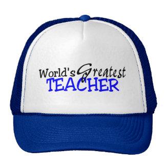 Negro azul del profesor más grande de los mundos gorras