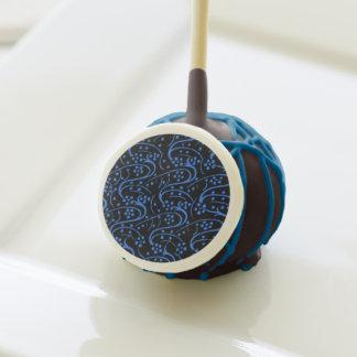 Negro azul floral del remolino del vintage