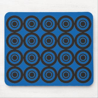 Negro azul geométrico de moda fresco del cojín de alfombrilla de ratones
