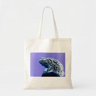 Negro azul invertido foto del sapo de la rana bolsa