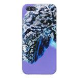 Negro azul invertido foto del sapo de la rana iPhone 5 protector