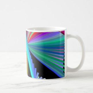 Negro azul púrpura verde rojo del arte del taza