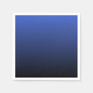 Negro azul real Ombre Servilleta Desechable