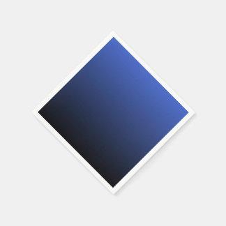 Negro azul real Ombre Servilletas De Papel