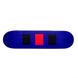 Negro azul rojo de la cubierta 5 inusuales del mon monopatín personalizado