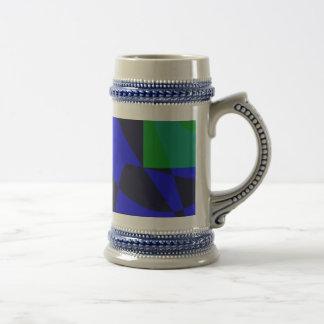 Negro azul jarra de cerveza