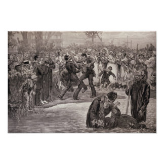 Negro Baptism in the United States Poster
