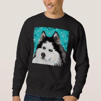 Negro básico de la camiseta del perro de la nieve pulover sudadera