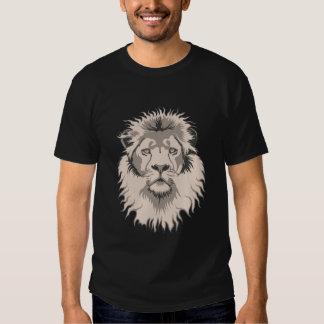 Negro básico principal del león remera