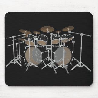 Negro batería de 10 pedazos - Mousepad negro: Tamb Tapetes De Raton