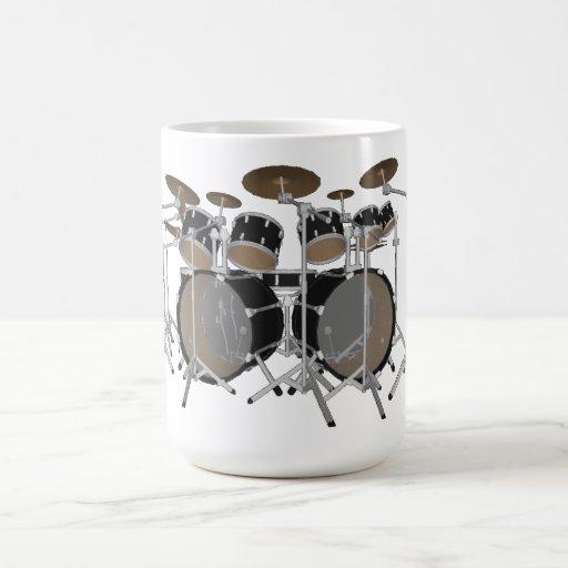 Negro batería de 10 pedazos - taza de café