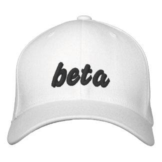 Negro beta en el gorra blanco gorras bordadas