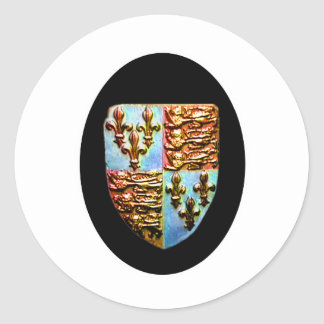 Negro BG del escudo de la iglesia de Inglaterra Pegatina Redonda