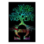 Negro BG del poster de la vida de Vape