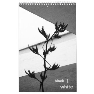 negro + blanco calendario