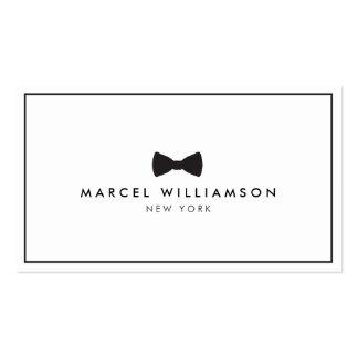 Negro/blanco clásicos del logotipo de la pajarita  plantilla de tarjeta de negocio