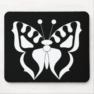 Negro/blanco de la mariposa mousepads