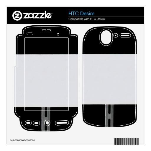 Negro blanco de la muestra HTC desire calcomanías