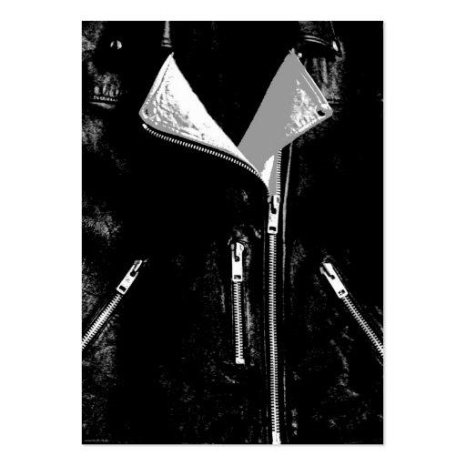 Negro blanco de la tarjeta de visita de la chaquet