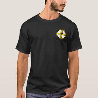 Negro blanco de los caballeros teutónicos y camisa