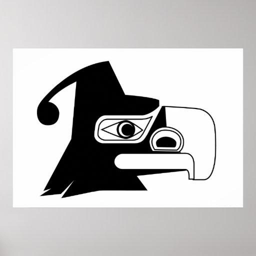 Negro/blanco de Thunderbird Poster