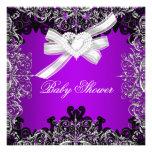 Negro blanco púrpura bonito de la fiesta de bienve invitacion personalizada