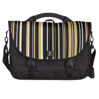 Negro, blanco, raya amarilla del código de barras bolsas para ordenador
