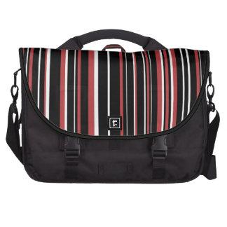 Negro, blanco, raya roja del código de barras de bolsa para ordenador
