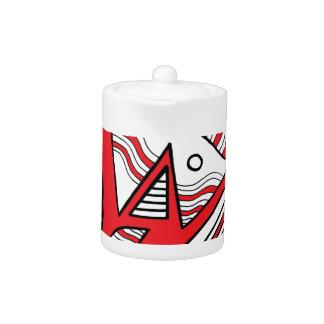 Negro blanco rojo de la expresión abstracta de
