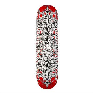 Negro blanco rojo del tatuaje tribal del imperio monopatin personalizado