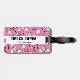 Negro blanco rosado del tenis etiquetas para maletas
