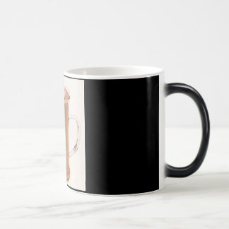 Negro/blanco taza Morphing de 11 onzas