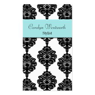Negro bonito, blanco y tarjeta de visita del damas