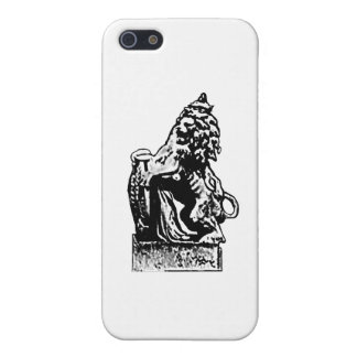 Negro británico del león rv del emblema el GIF de  iPhone 5 Fundas