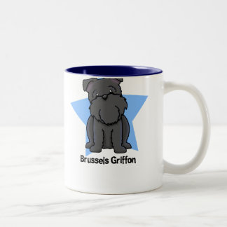 Negro Bruselas Griffon de la estrella de Kawaii Taza De Café